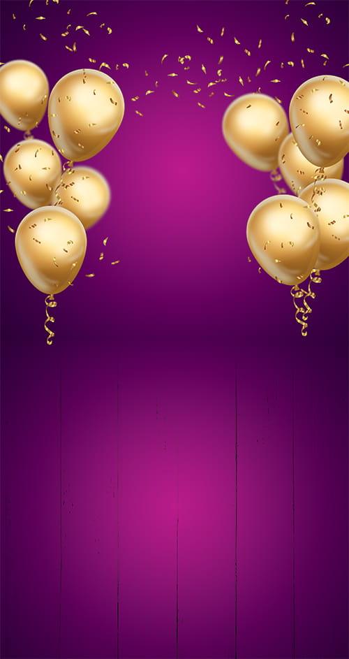 Tło Fotograficzne Balony Classic 696 Bingo Winylowe Tła Fotograficzne